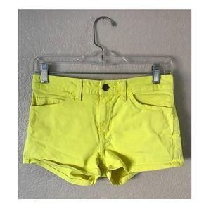 American Apparel jean mini shorts